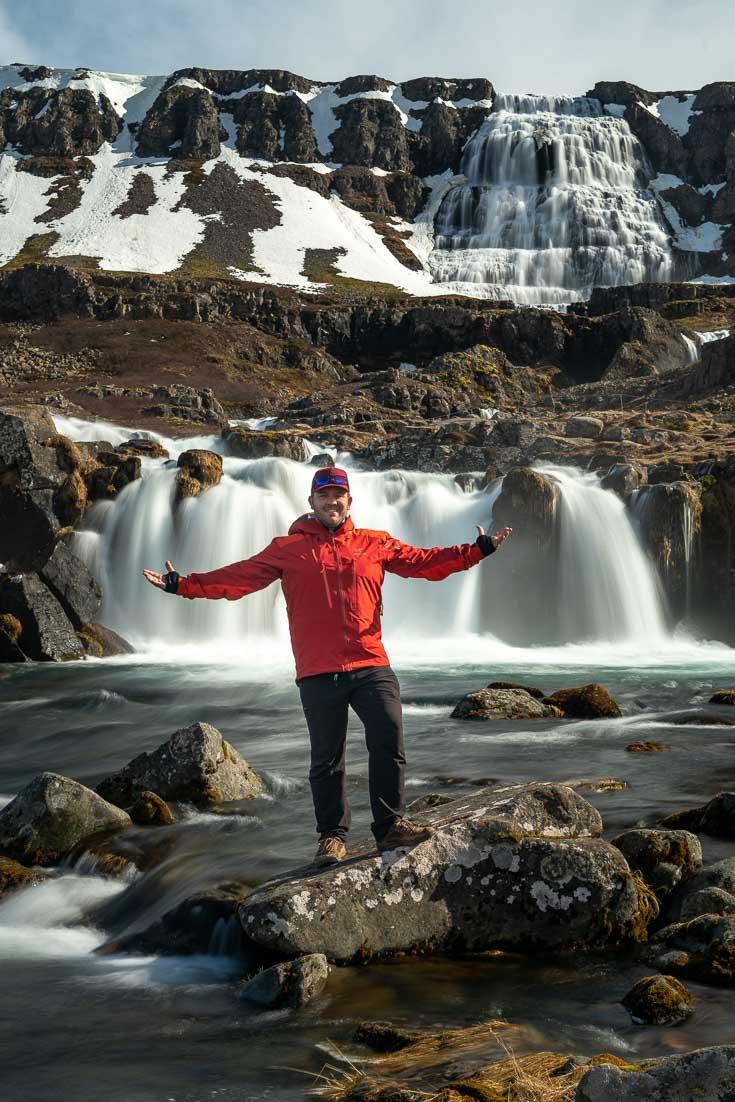 iceland travel Dynjandi waterfalls