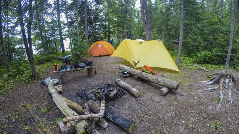 tents in ontario wilderness