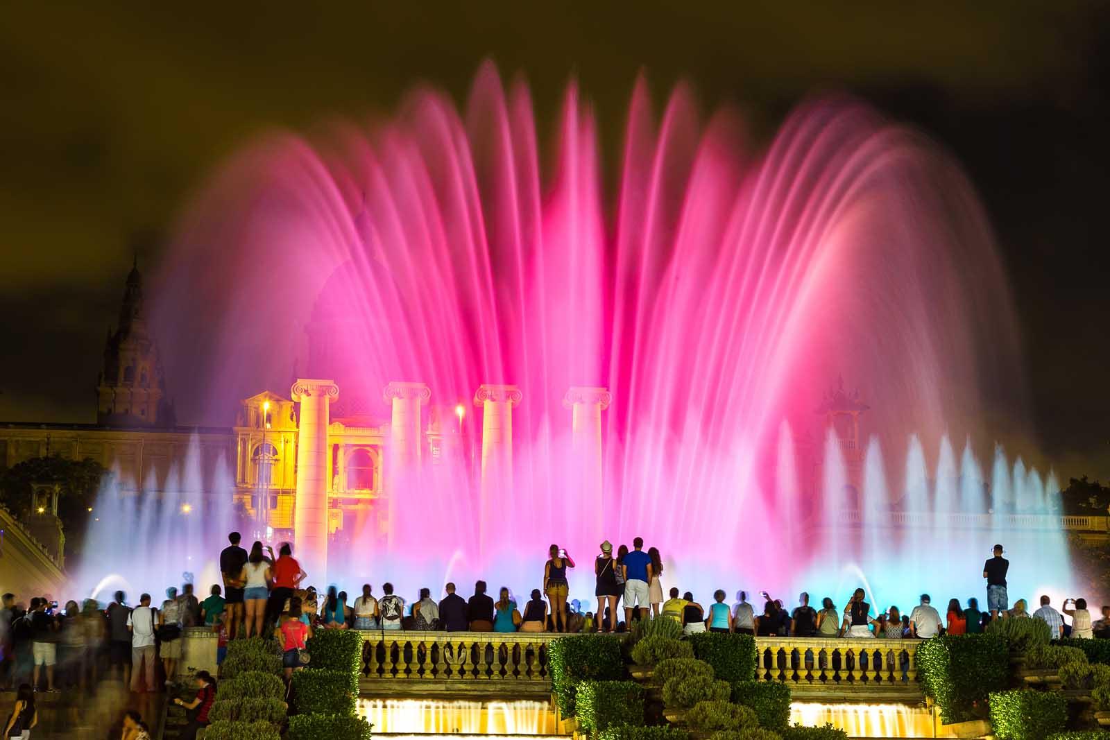 Magic Fountain of Montjuïc in Barcelona