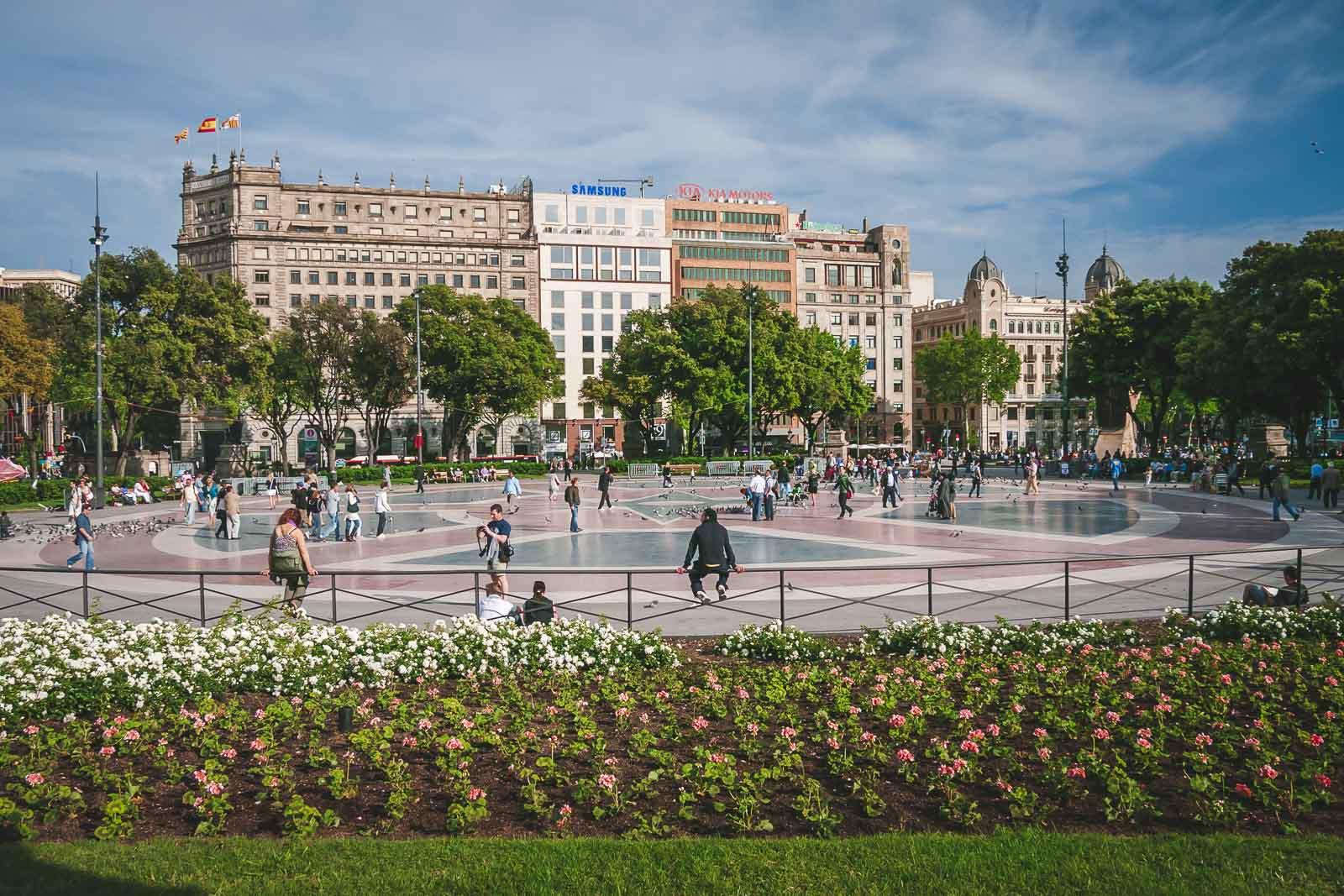 Placa de Catalunya in Barcelona