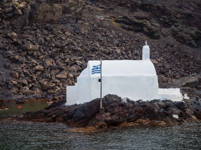 santorini hot springs places to visit