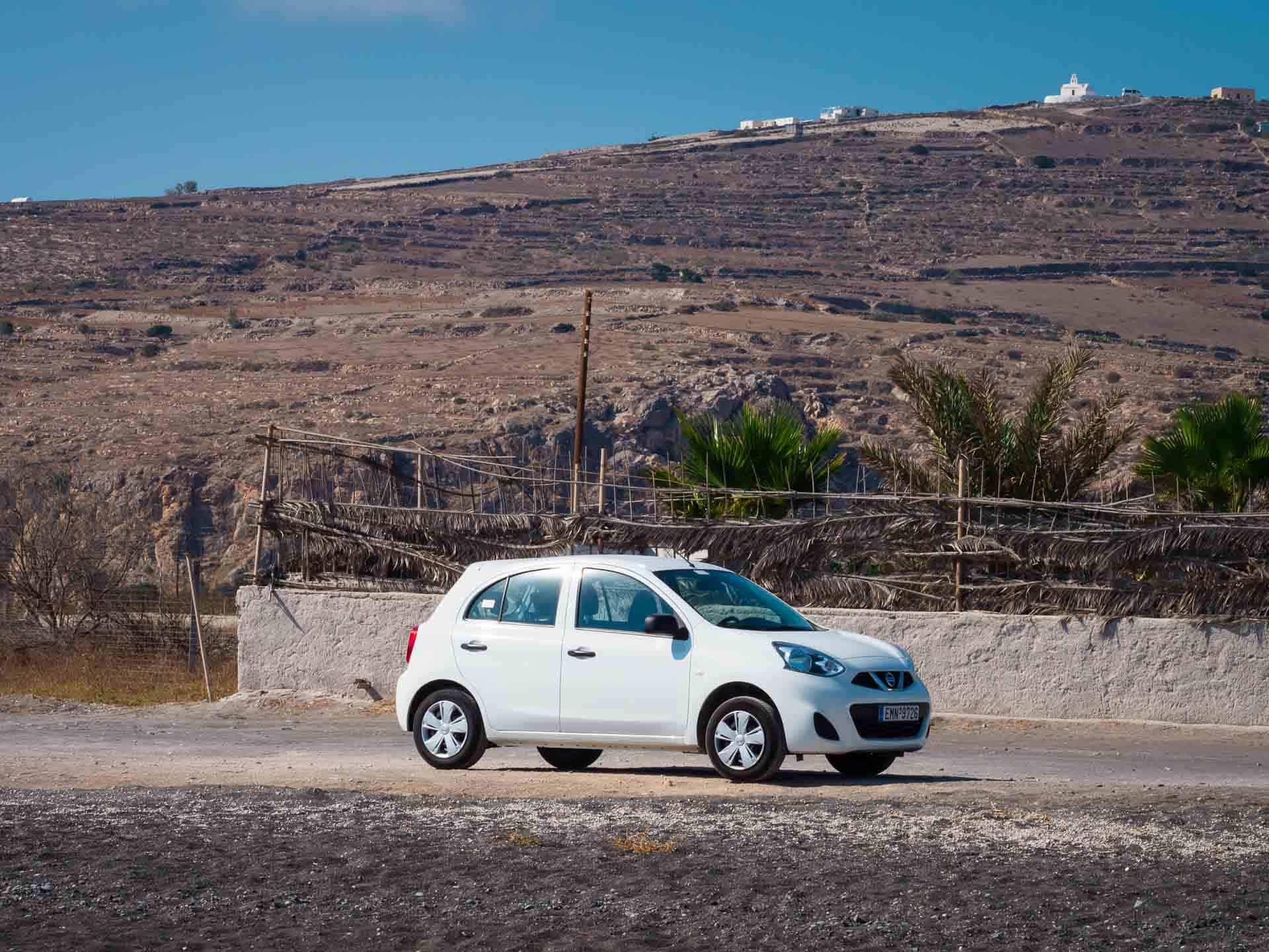 how to get around santorini - car rentals