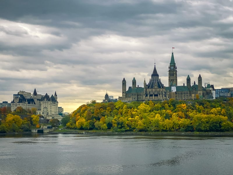 The Parliament Buildings in Ottawa Ontario