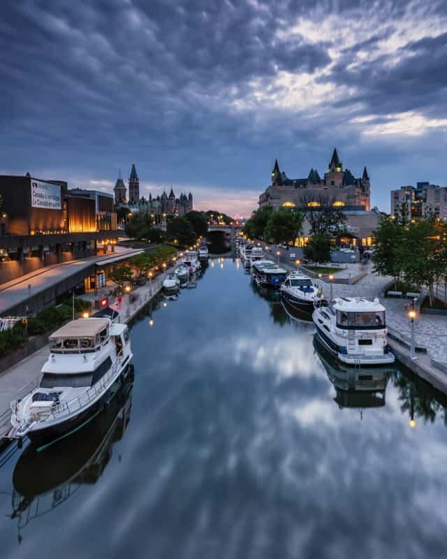 Rideau Canal in Ottawa Ontario