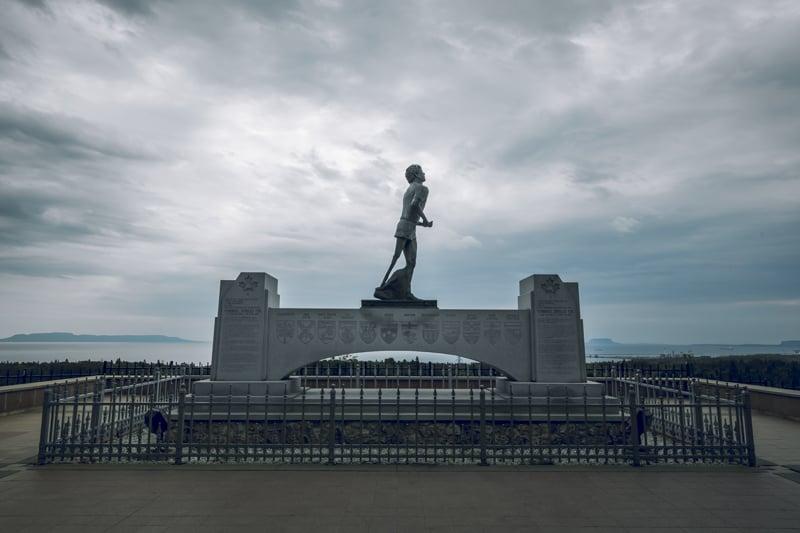 Terry Fox Memorial in Northern Ontario