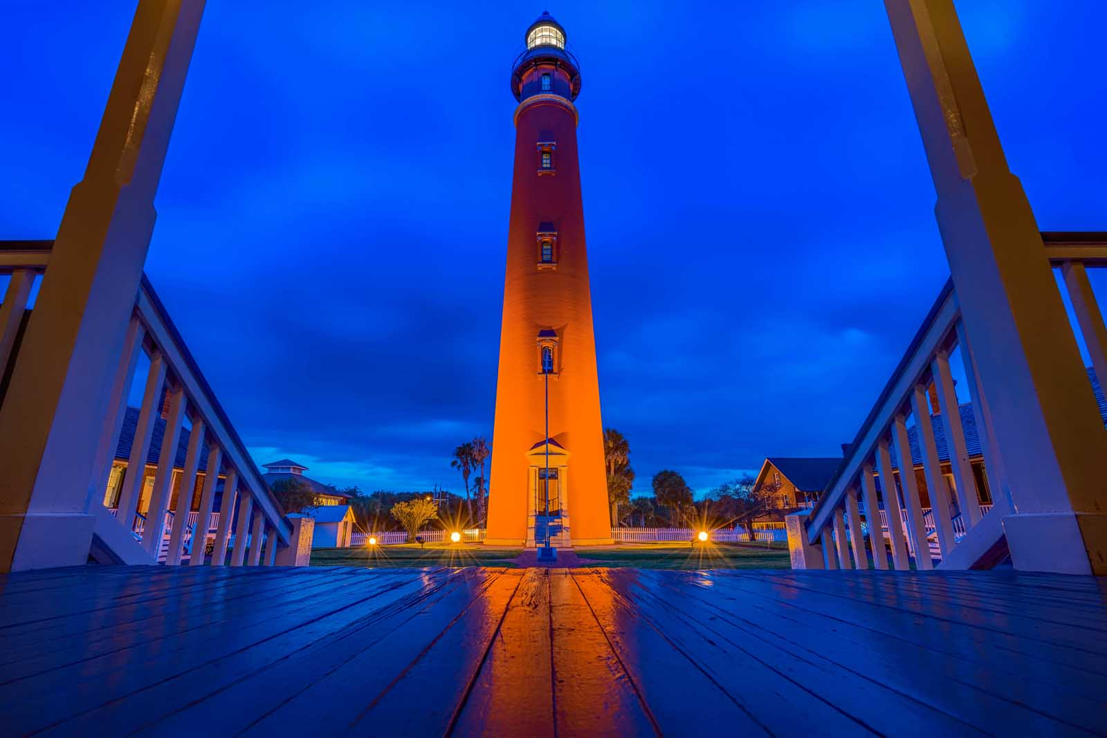 Ponce de Leon Lighthouse at sunset