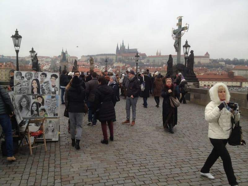 Prague tourist traps Charles Bridge hawkers