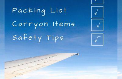 Pre travel checklist Pin