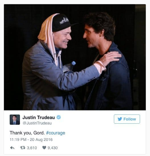 Prime Minister with Tragically Hip