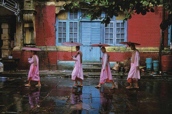 steve mccury nuns walking in burma