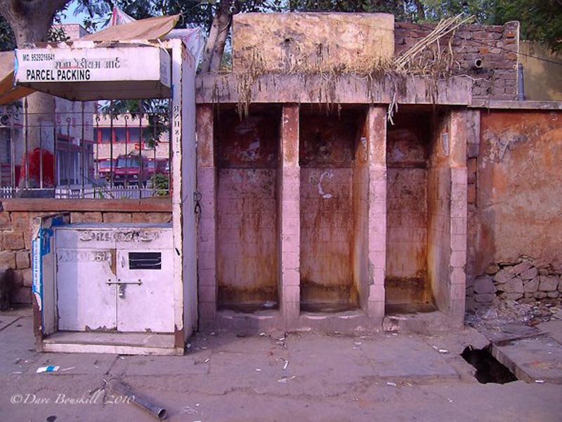 filthy india public urinals