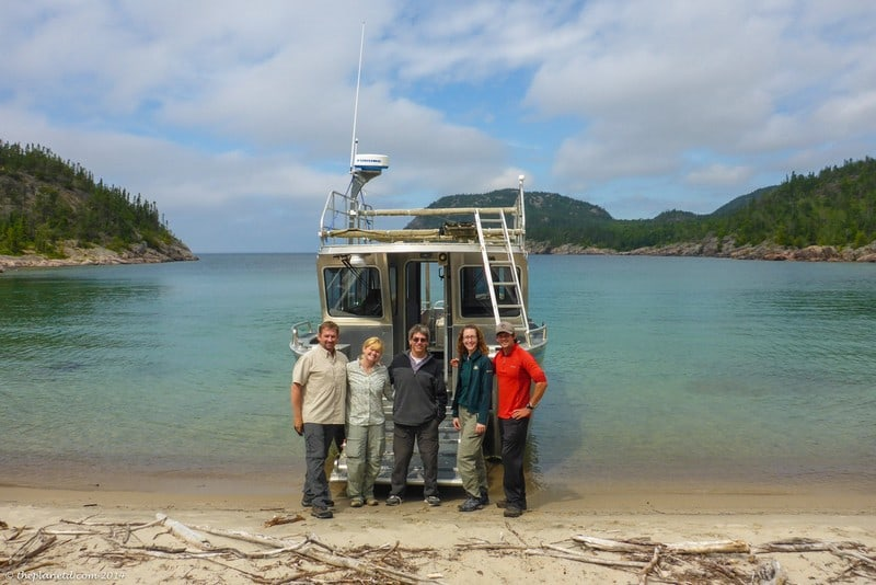 Pukaskwa National Park Ontario - boat to North Swallow