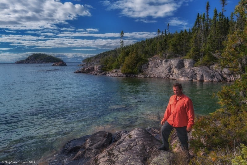 hiking the Pukaskwa Coastal trail in our new Royal Robbins clothing
