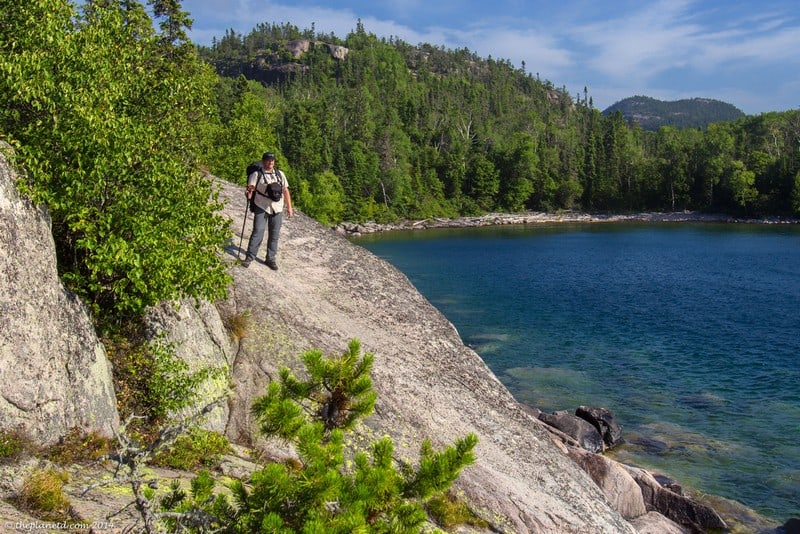 Pukaskwa National Park Ontario hiking on rocks
