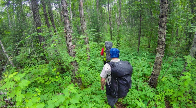 hiking the in Pukaskwa National Park