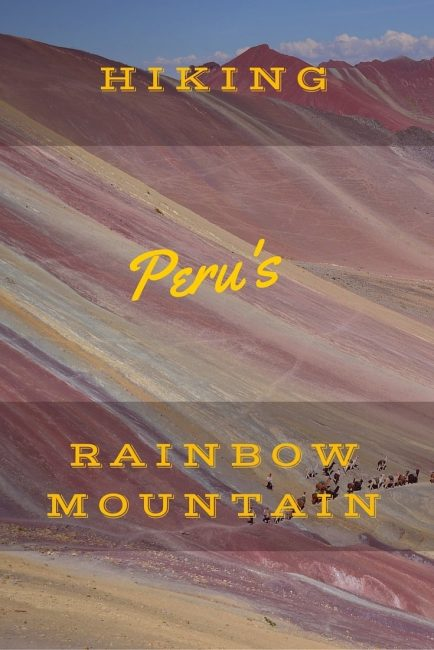 rainbow mountain Peru verticle