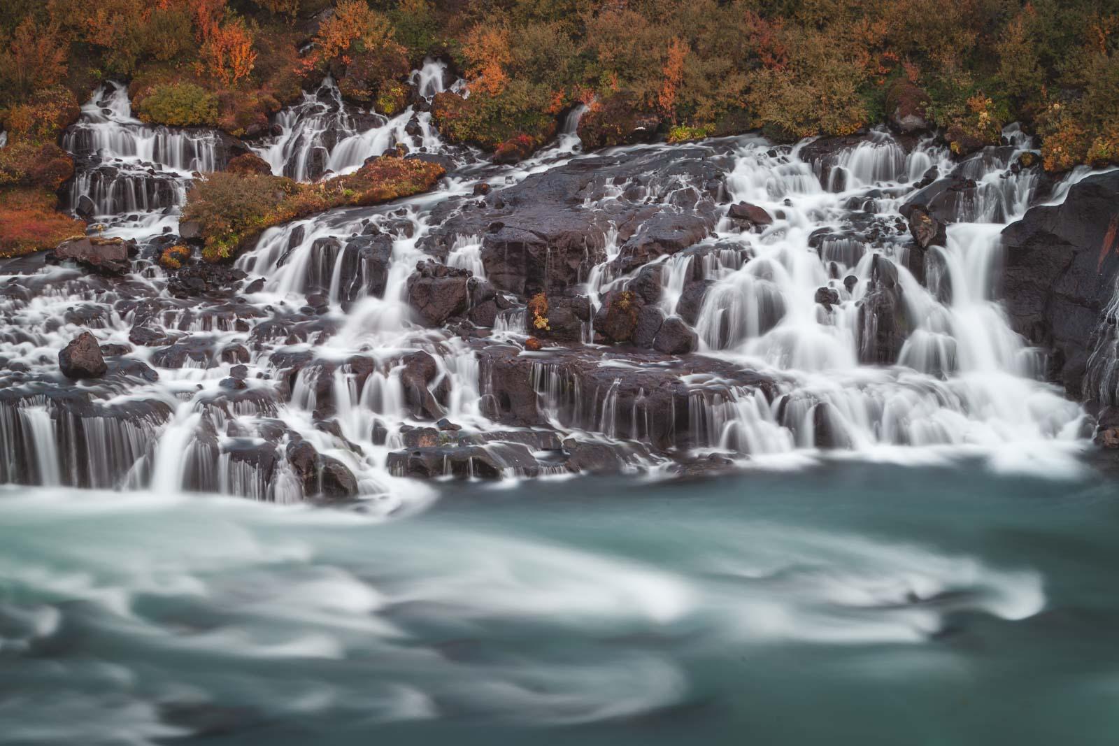 Hraunfoss Iceland Road Trip Stop