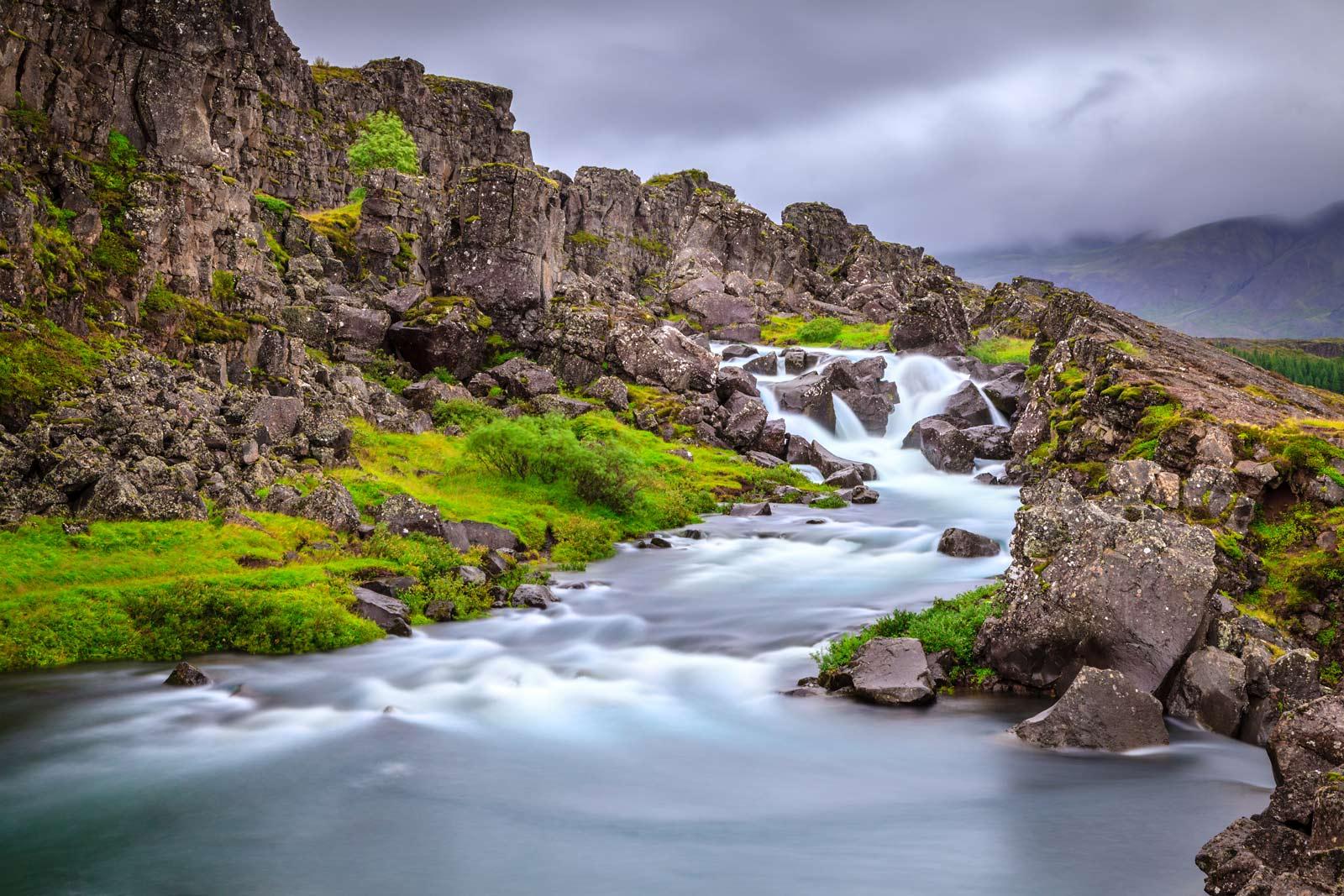 Thingvellir National Park in Ring Road in Iceland