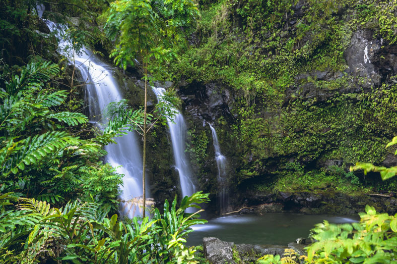 maui waterfalls hana highway