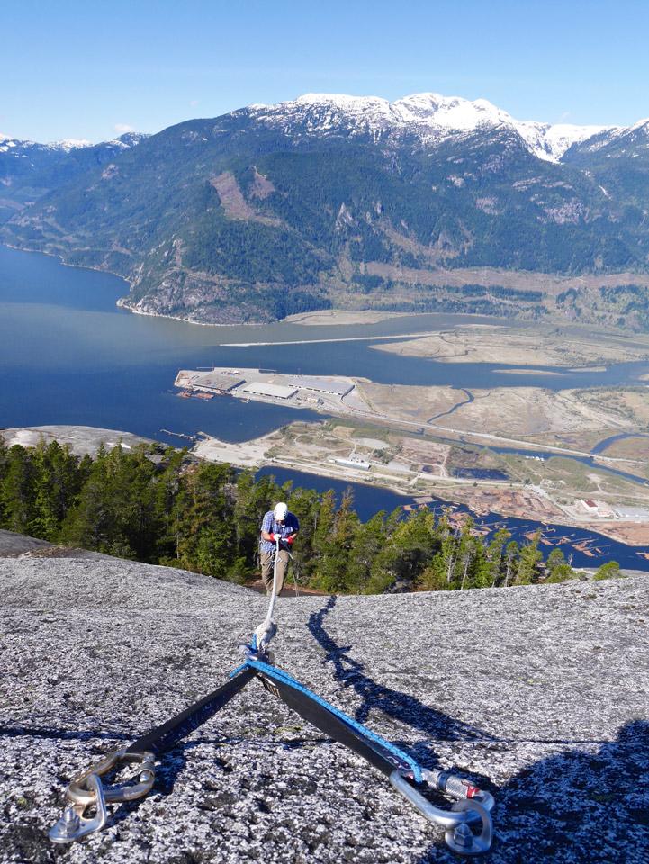 Rock climbing in Squamish BC