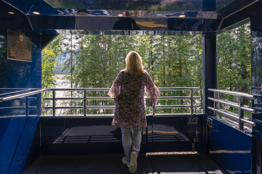 Viewing platform on the Rocky Mountaineer