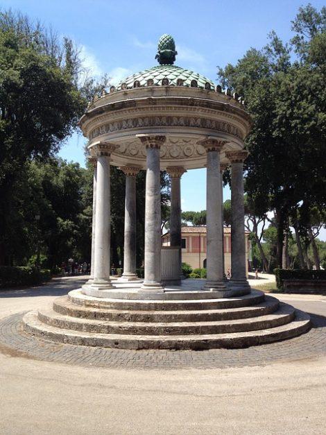 The Borghese Garden in Rome