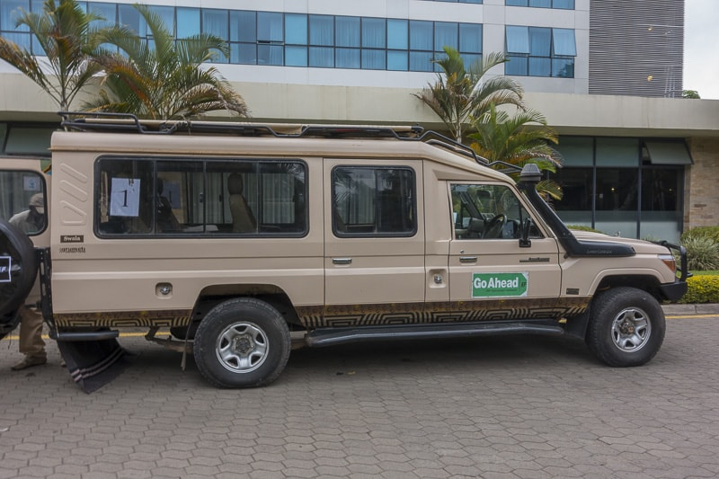 Our Safari Vehicle in Tanzania
