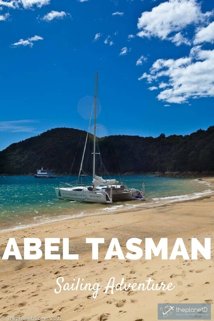 We had just jumped out of a plane and flew our own stunt plane the day earlier and now we are sailing along the coast of Abel Tasman National Park. Sailing Abel Tasman Adventure New Zealand