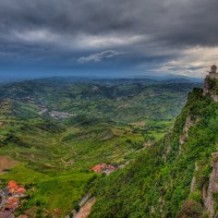 Italian Countryside View from San Marino