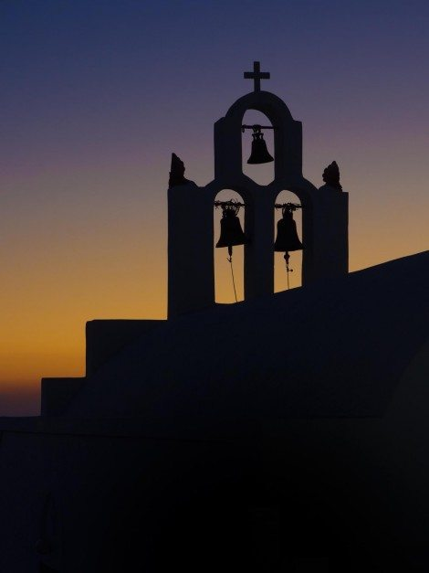 about santorini church