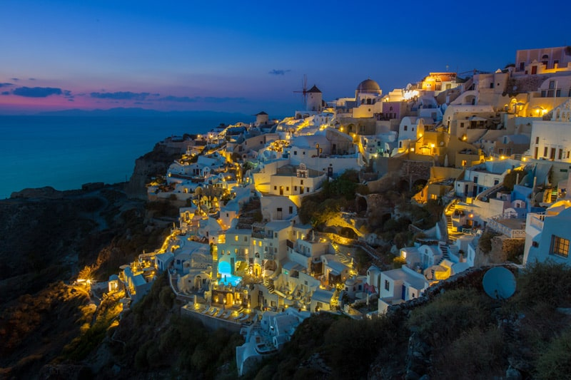 Santorini Photography Guide Blue Hour from Castle