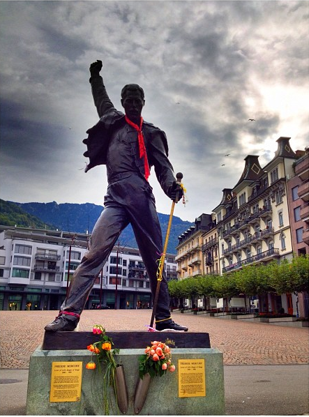 freddie Mercury tribute in Montreux