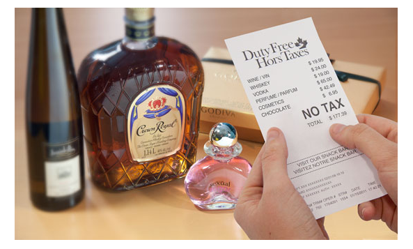 duty free shopping wine and crown royal