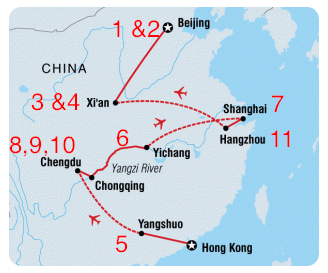 best things to do in China map