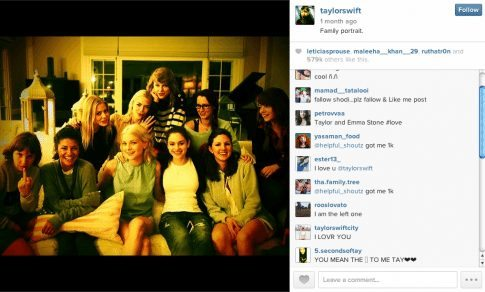 Taylor Swift with her current Bff's who just so happen to be hot right now.