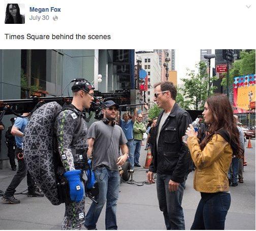 Behind the Scene of Teenage Mutant Ninja Turtles at Megan Fox