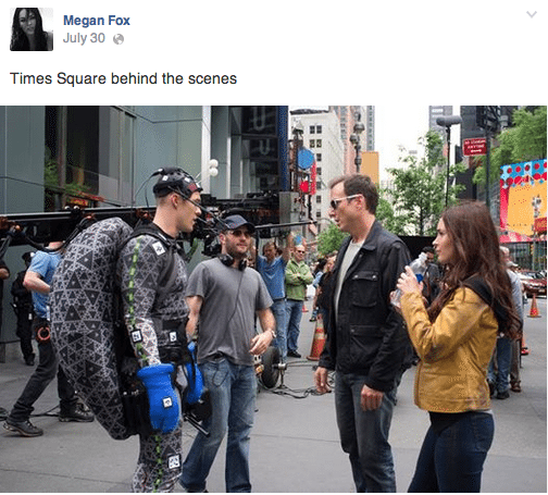 Behind the Scene of Teenage Mutant Ninja Turtles at Megan Fox
