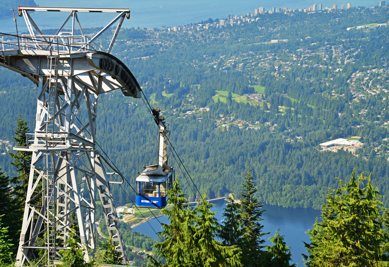 Grouse Mountain gondola Vancouver British Colombia
