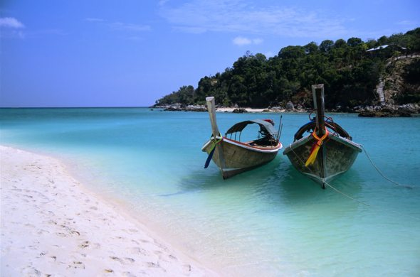 longtail boats in Ko Lipe Thailand