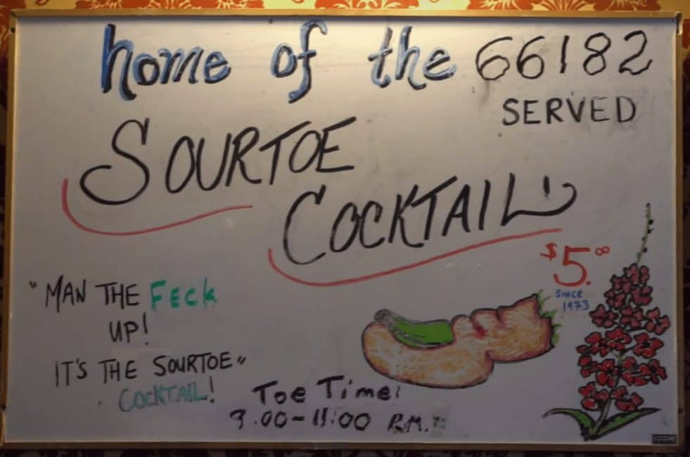 sourtoe cocktail