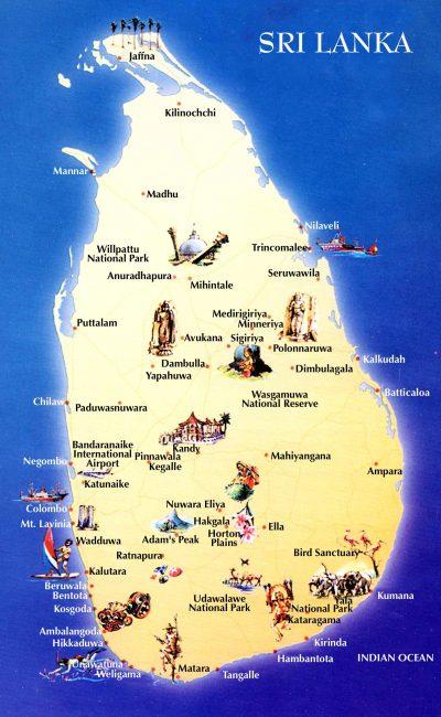 We have arrived in Sri Lanka on a one-month tourist visa.