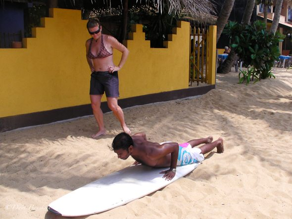 surf lessons in Sri Lanka