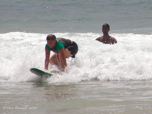 surfing in Sri Lanka, first time