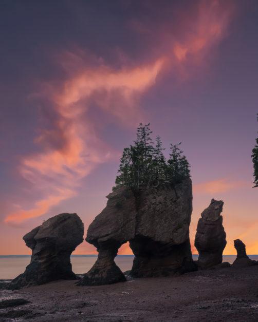 Hopewell Rocks in New Brunswick