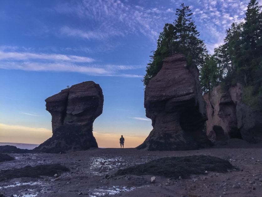Hopewell Rocks near Saint John New Brunswick