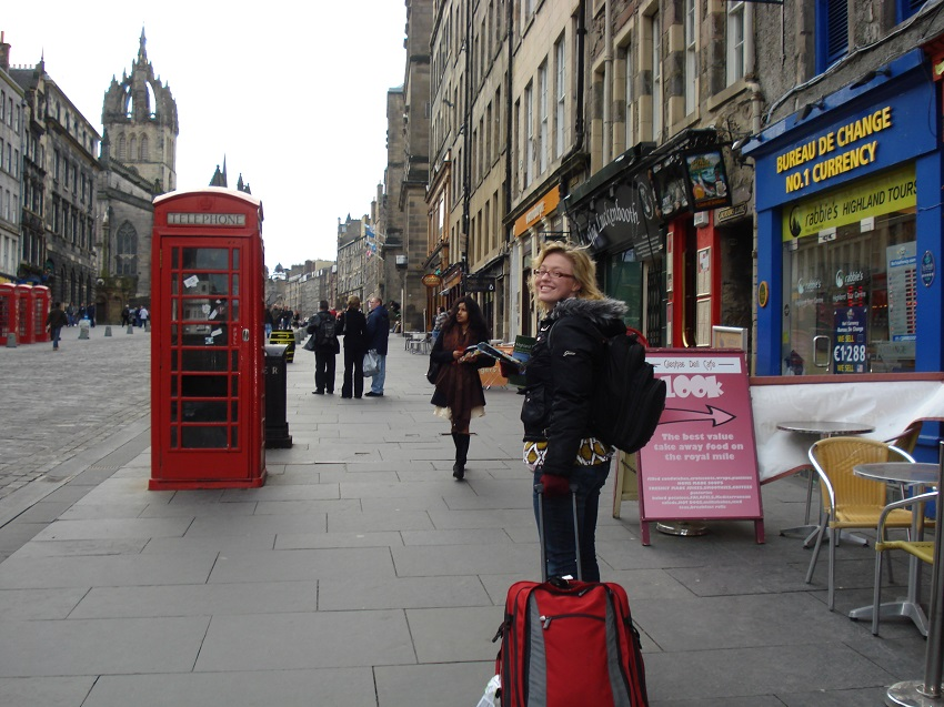 Suitcase in Scotland