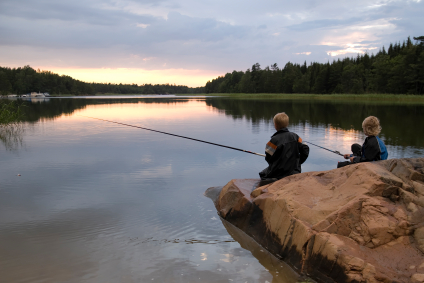 green travel fishing Sweden
