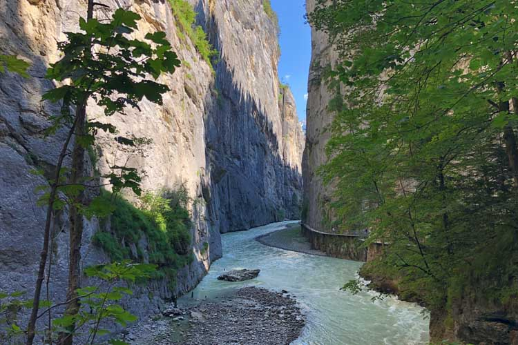 things to do in Jungfrau switzerland | aare gorge