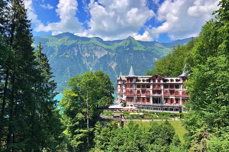 things to do in switzerland | Giessbach Hotel