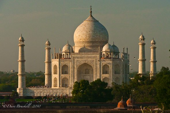 The Taj bathed in a Sunset glow